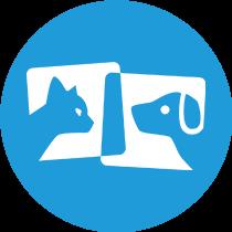 Pet services mobile app development icon
