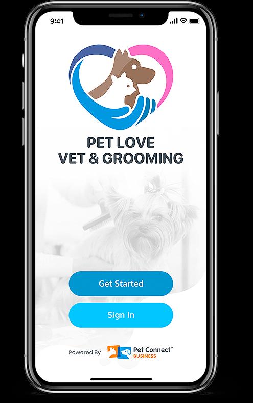 Pet Services management system custom branded mobile app